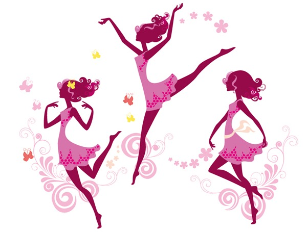 600x455 Elegant Dancing Girl Vector Material My Free Photoshop World