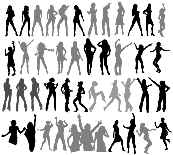 600x538 Free Dancing Girls Silhouettes Vector Free Psd Files, Vectors