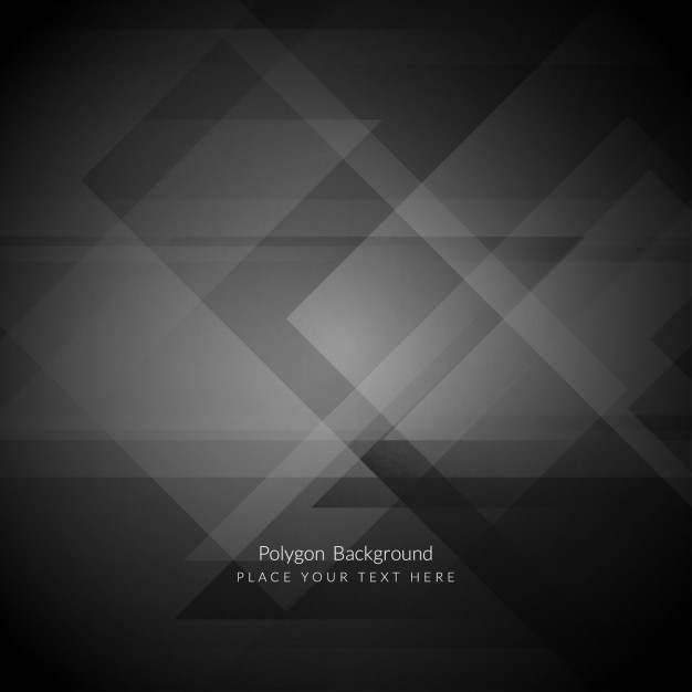 626x626 Black Polygonal Background Vector Free Download