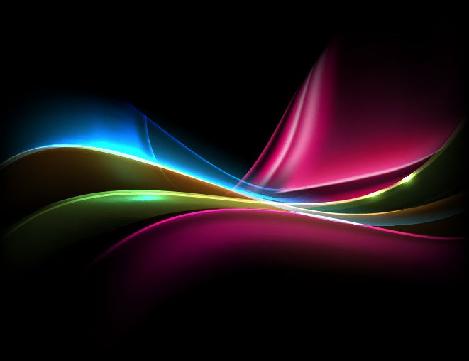 661x508 Colored Light On Dark Background Vector Illustration Free Vector