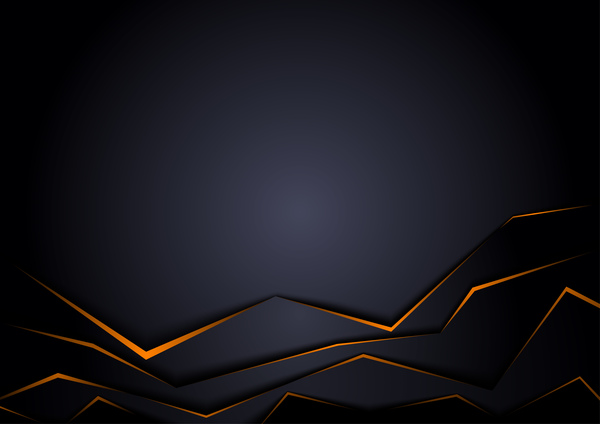 600x424 Origami Black Background Vectors Free Download