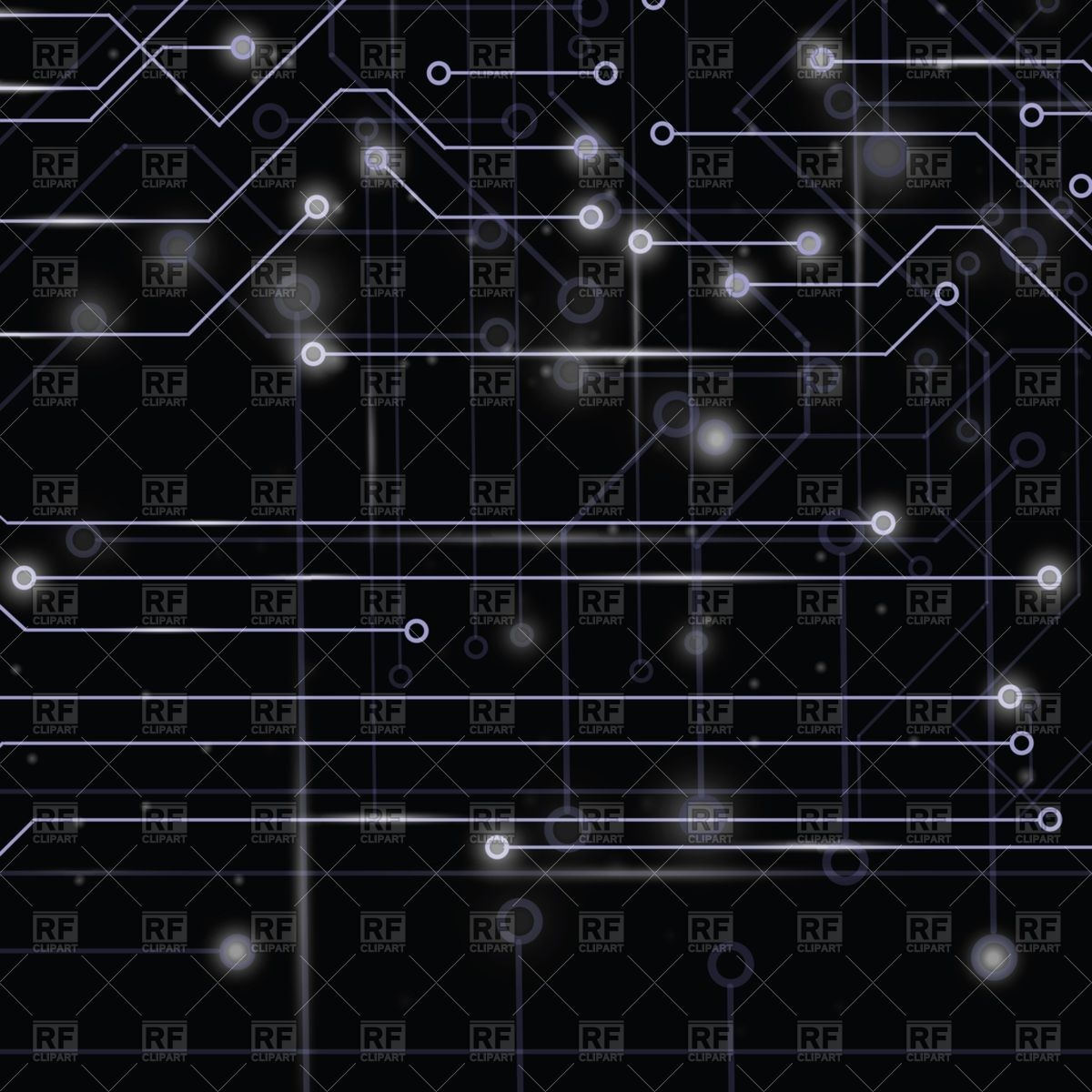 1200x1200 Technology Circuit Board On Dark Background Vector Image Vector