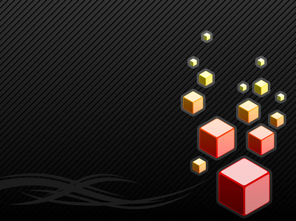 1024x765 Black Background With Cubes Vector Art Amp Graphics