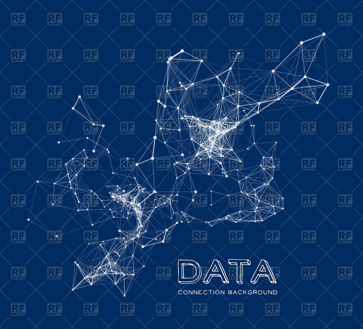 1200x1089 Abstract Network On Dark Blue Background Vector Image Vector