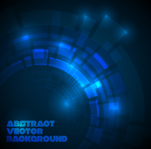 500x493 Concept Dark Blue Technical Vector Background 04 Free Download