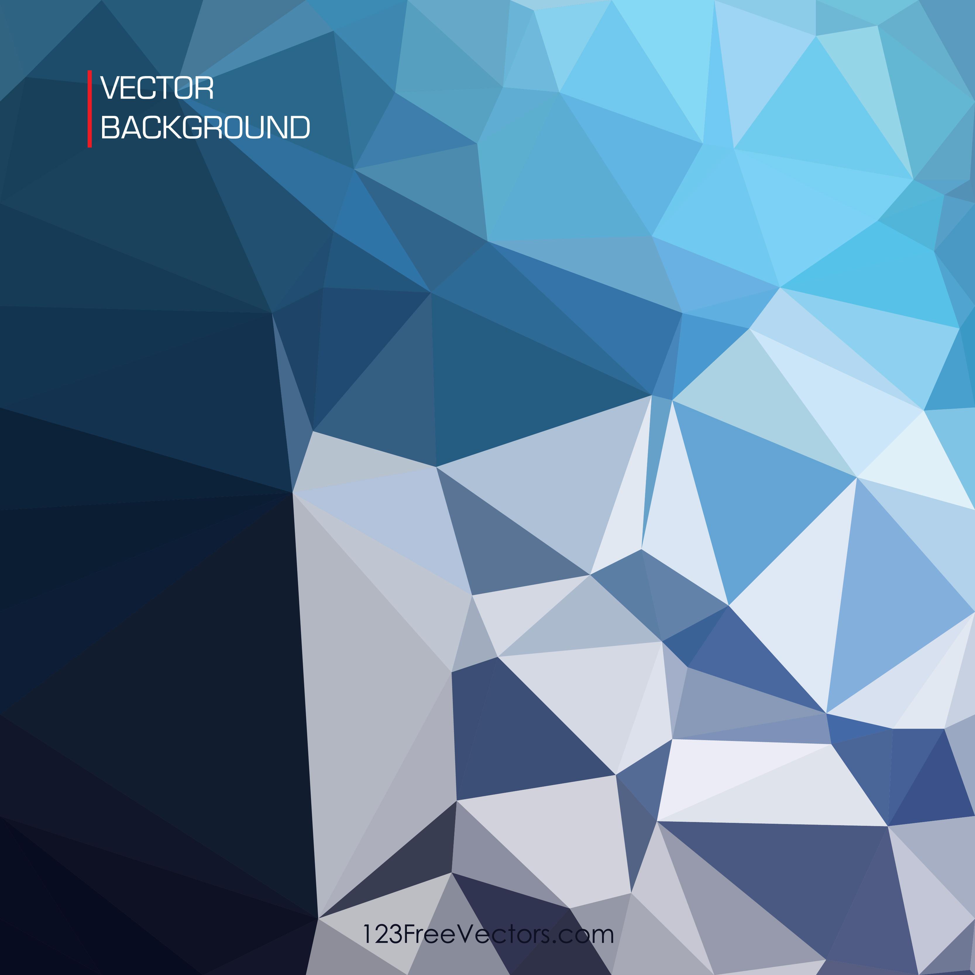 3333x3333 Dark Blue Abstract Geometric Polygon Background Vector