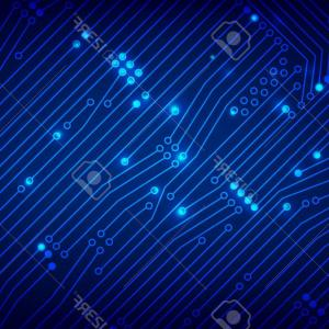 300x300 Abstract Blue Line Design On Dark Background Vector Shopatcloth