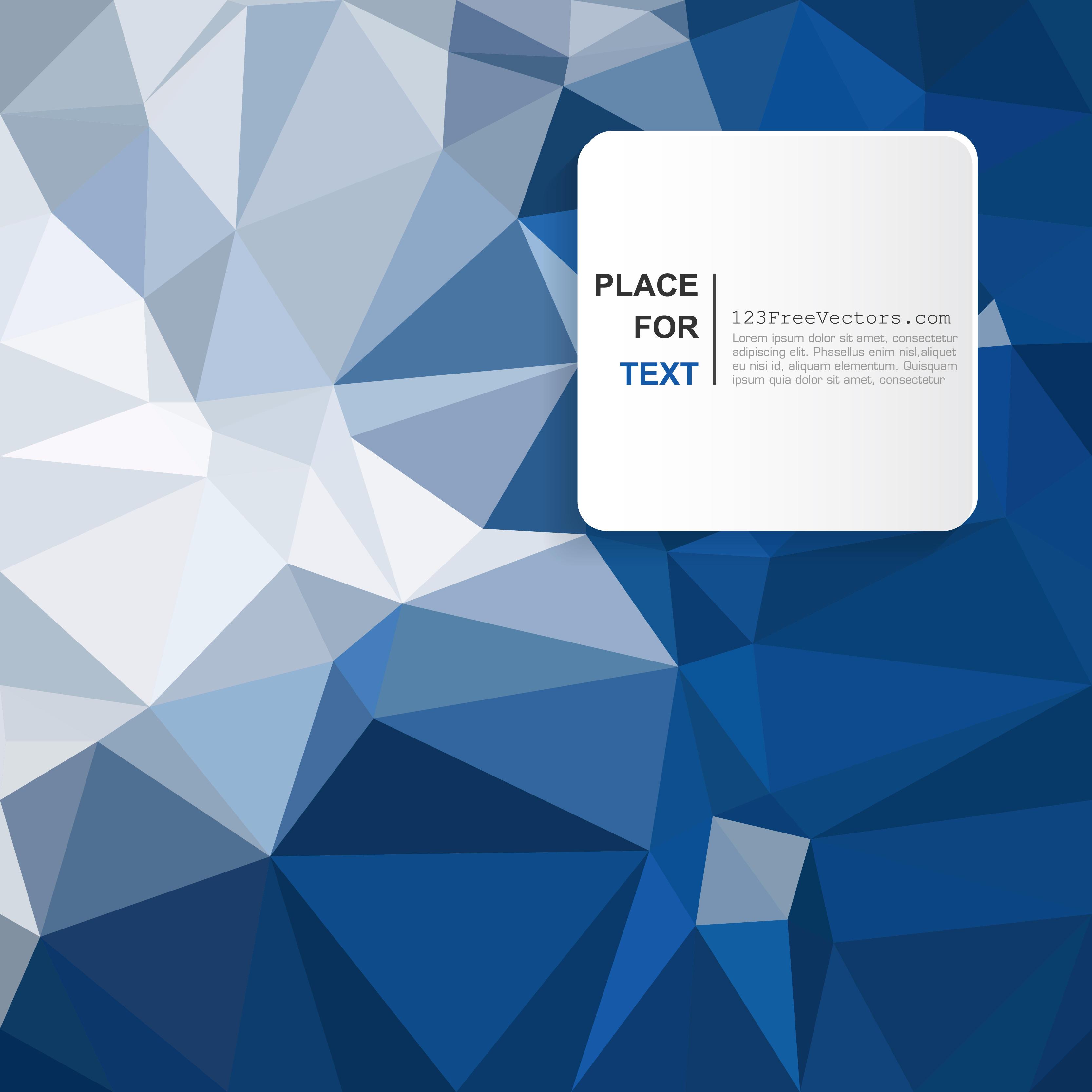 3333x3333 Geometric Polygon Dark Blue Background Vector 123freevectors