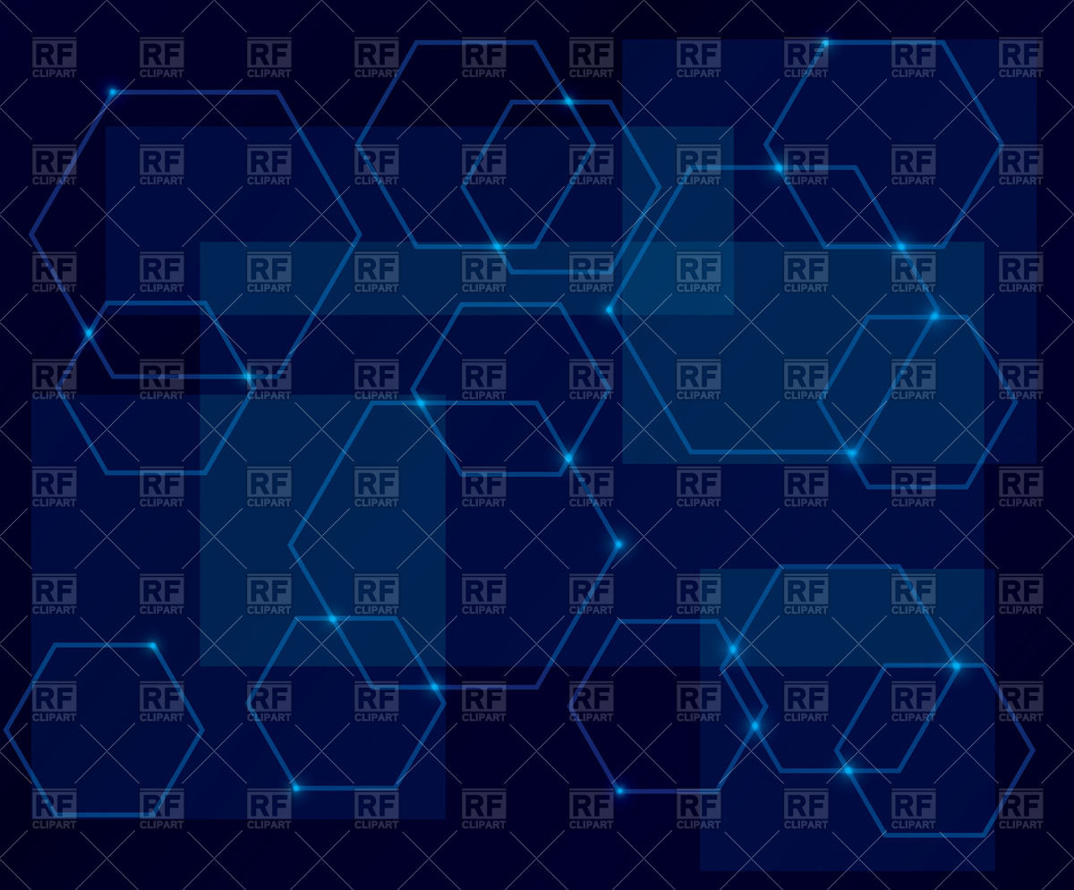 1200x995 Abstract Dark Blue Background With Hexagons Vector Image Vector