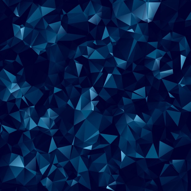 626x625 Abstract Dark Blue Polygonal Background Vector Free Download