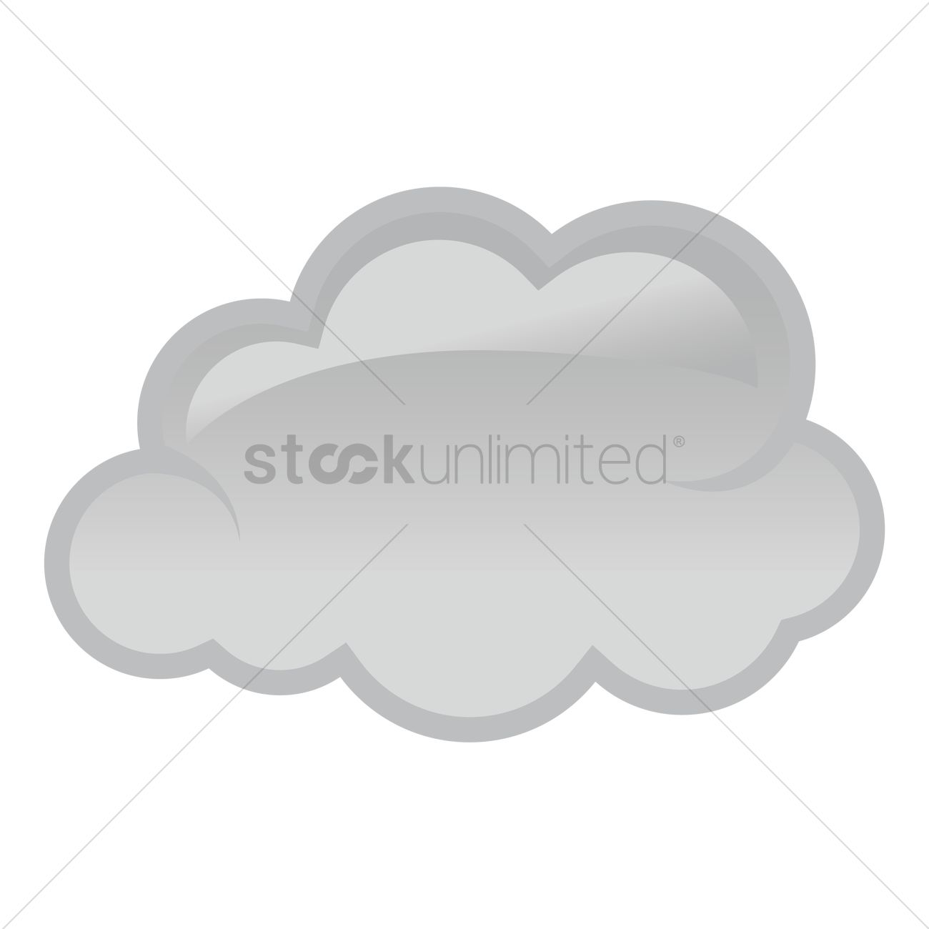1300x1300 Dark Cloud Vector Image
