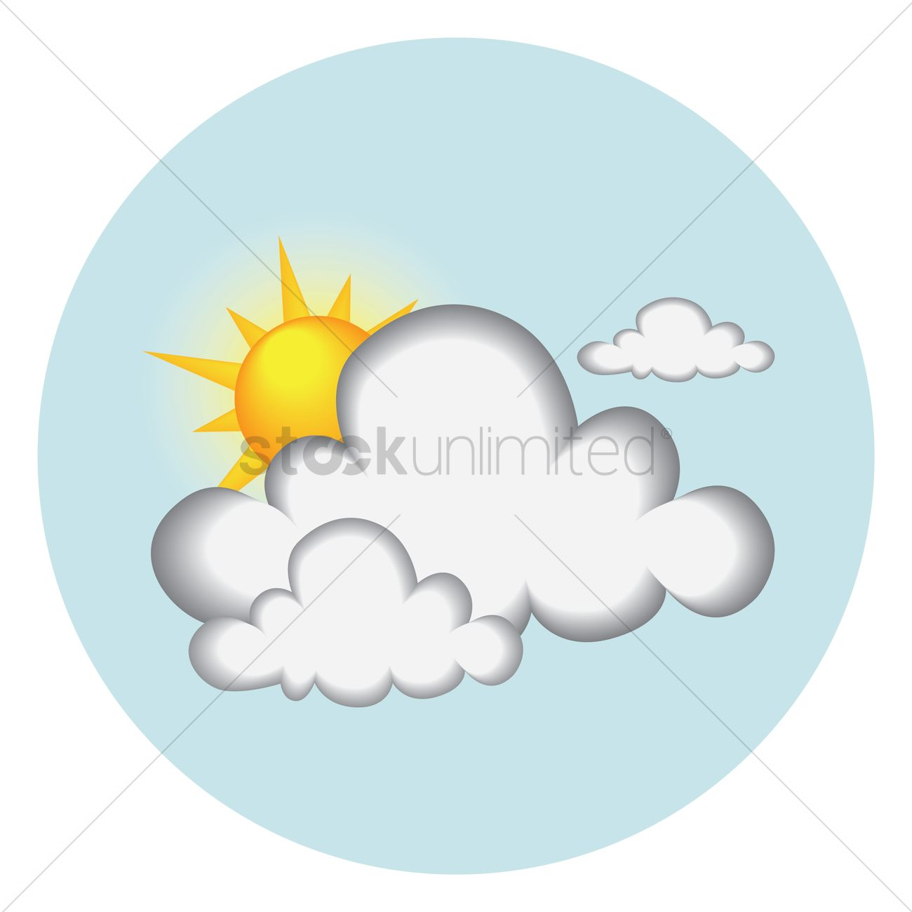 1300x1300 Sun Behind Dark Clouds Vector Image