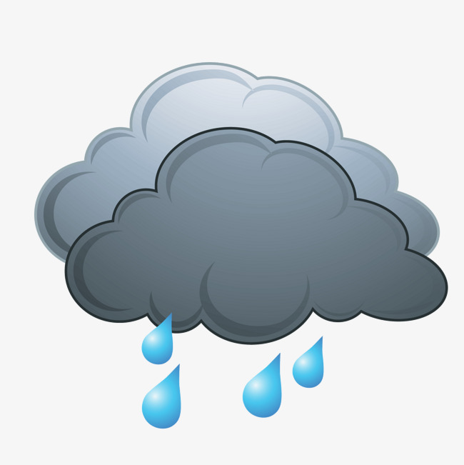 650x651 Vector Dark Clouds Of Rain, Rain Vector, Rain Clipart, Vector Png