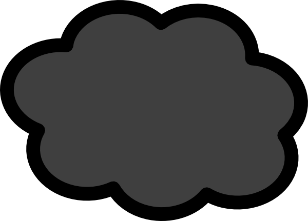 600x431 Dark Storm Cloud Clipart