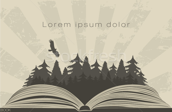 600x392 Dark Forest In Open Book Vector Illustration Andrei Doll