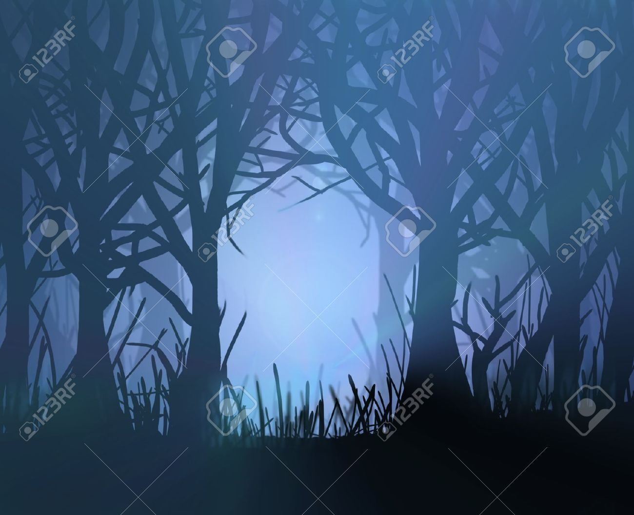 1300x1056 Dark Forest Stock Vector Illustration And Royalty Free Dark Forest