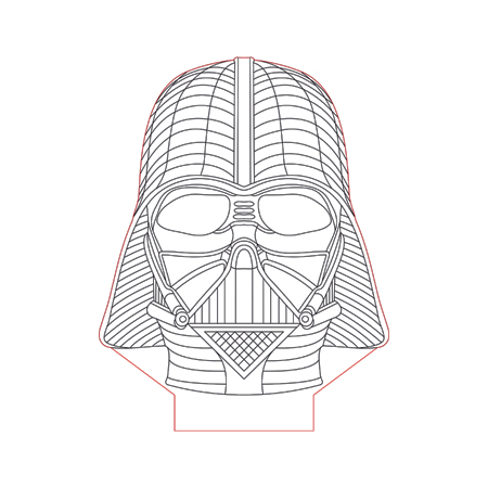Darth Vader Face Vector at GetDrawings.com | Free for personal use ...