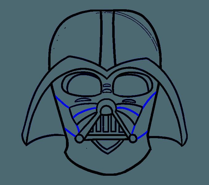 Darth Vader Mask Vector