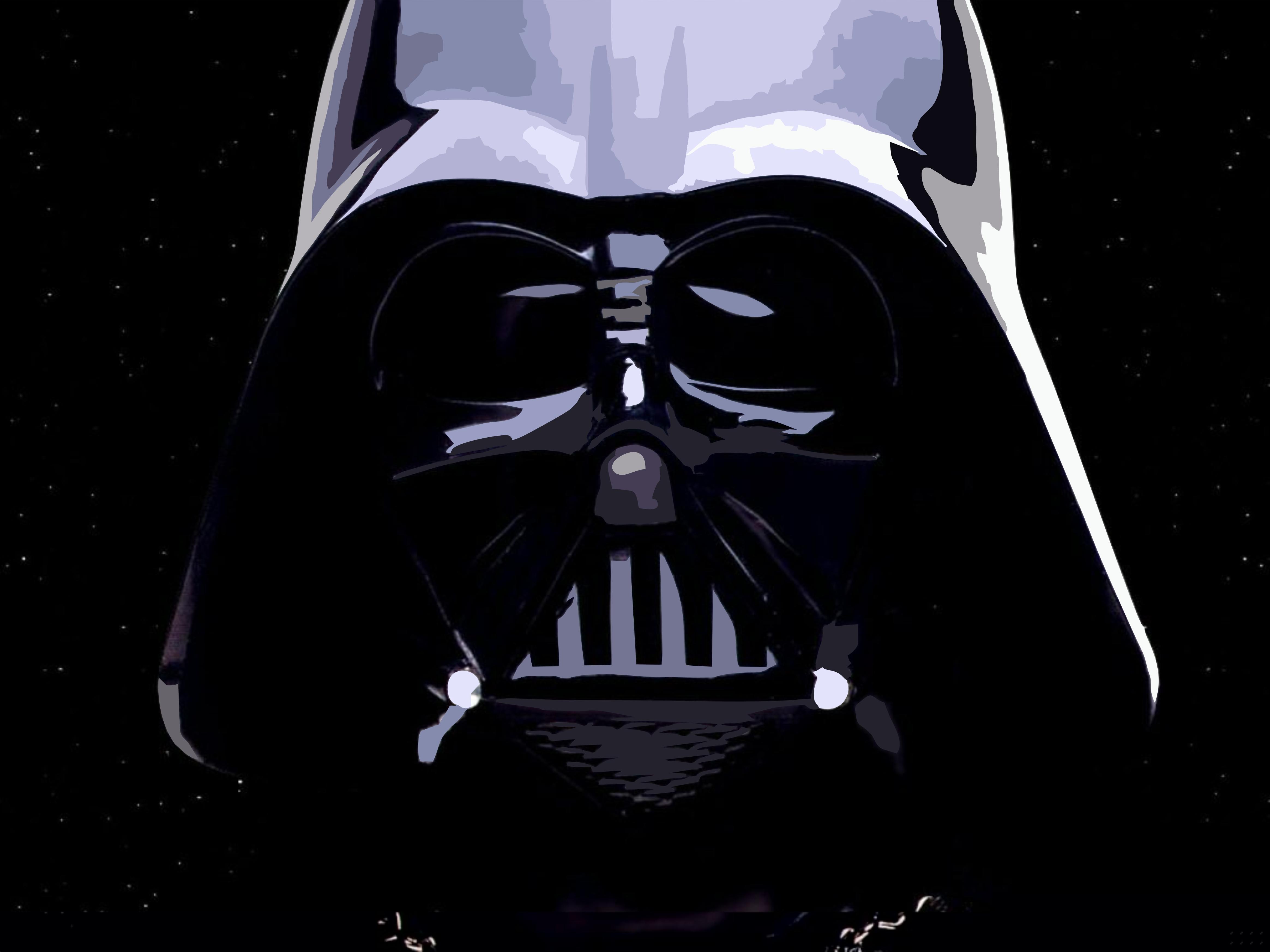 4658x3494 Darth Vader Helmet Vector