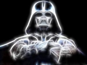 300x225 Darth Vader Fractal Vector Neon X Ray Cool Art Star Wars Wall