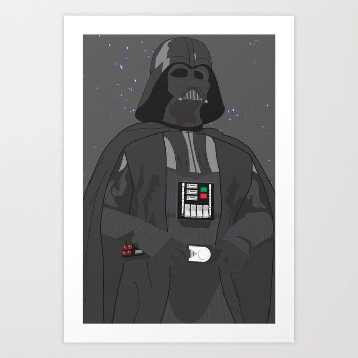 700x700 Darth Vader (Vector Art) Art Print By Troy Arthur Graphics