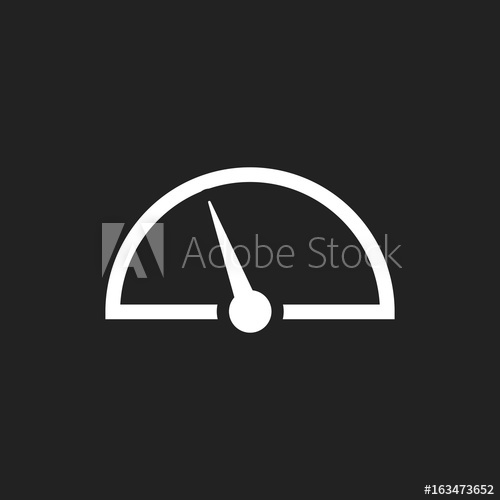 500x500 Dashboard Vector Icon. Level Meter Speed Vector Illustration
