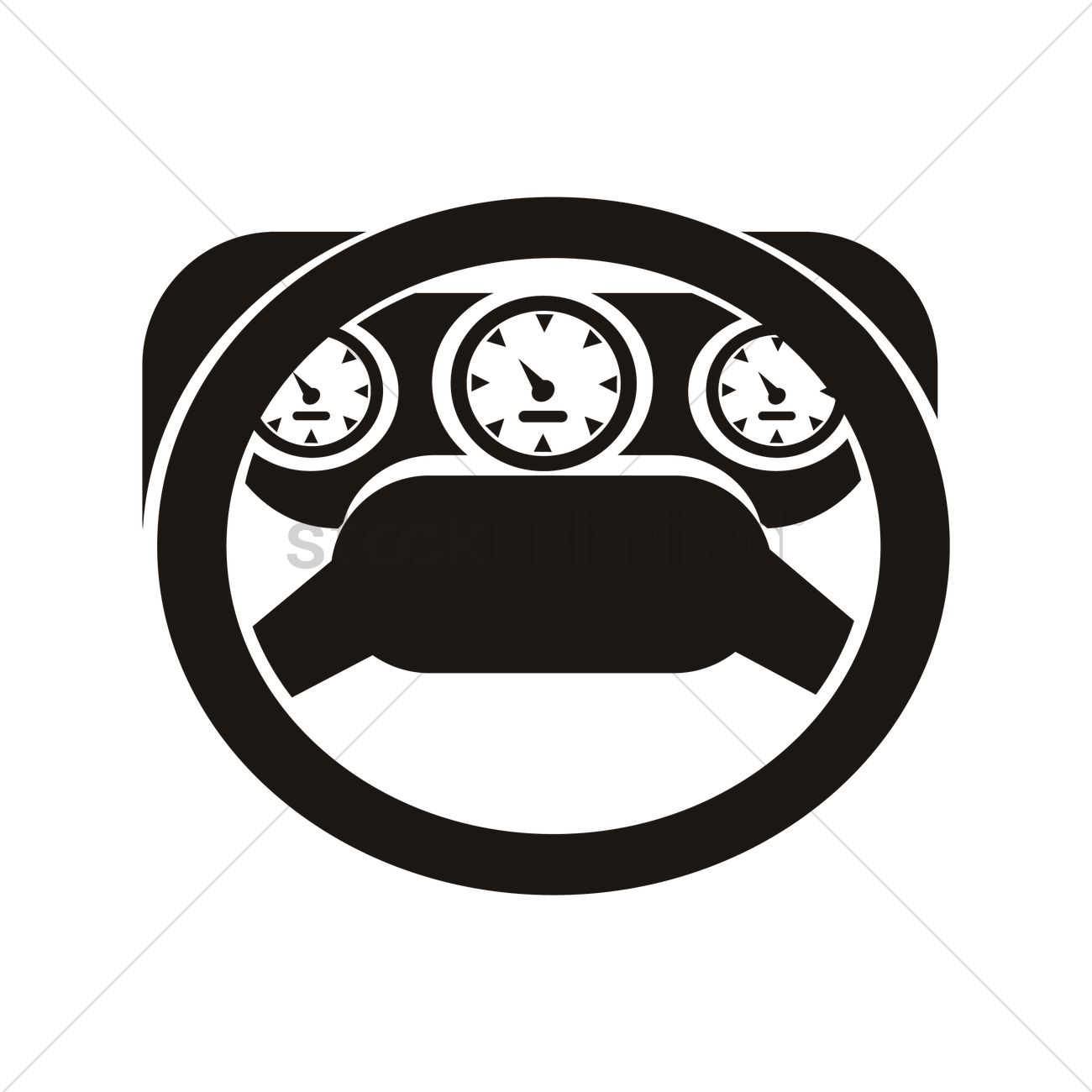 1300x1300 Car Dashboard Vector Image