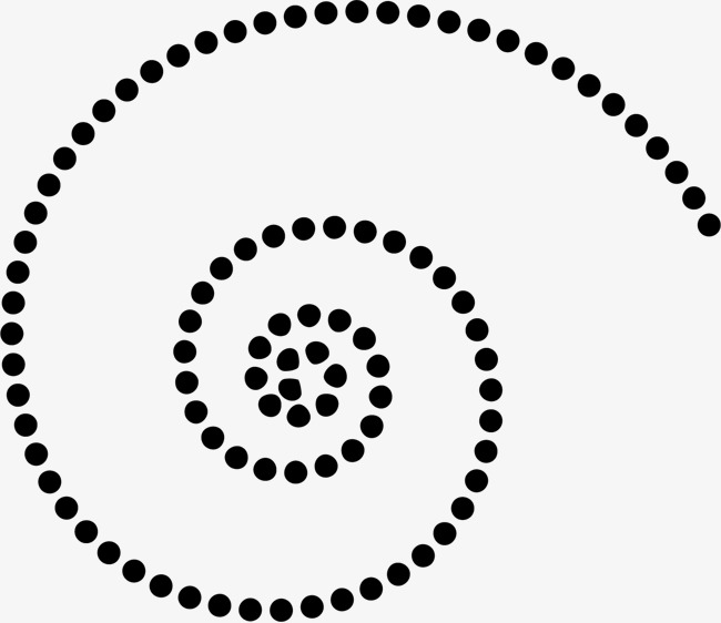 650x562 Spiral Dotted Line, Creative Dashed Circle, Creative Dashed Circle