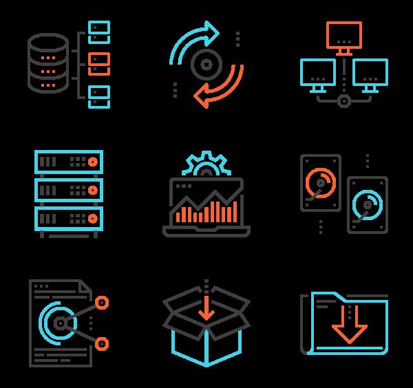 600x564 Database Icons
