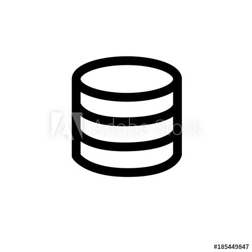 500x500 Database Vector Icon