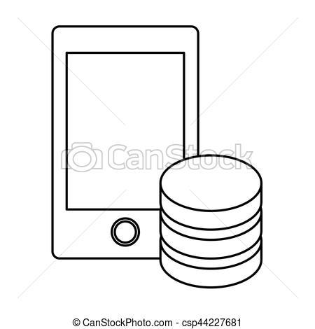 450x470 Figure Optimization Server Smartphone Database Icon, Vector