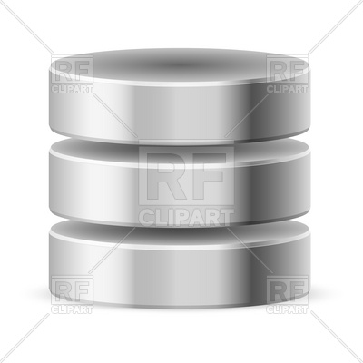 400x400 Metal Cylindrical Database Or Hdd Icon Vector Image Vector