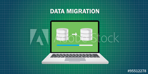 500x250 Data Migration In Computer From Database Vector Flat