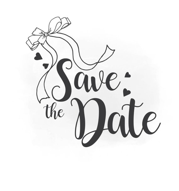 570x609 Save The Date Svg Clipart Wedding Annuncment Save The Date Etsy