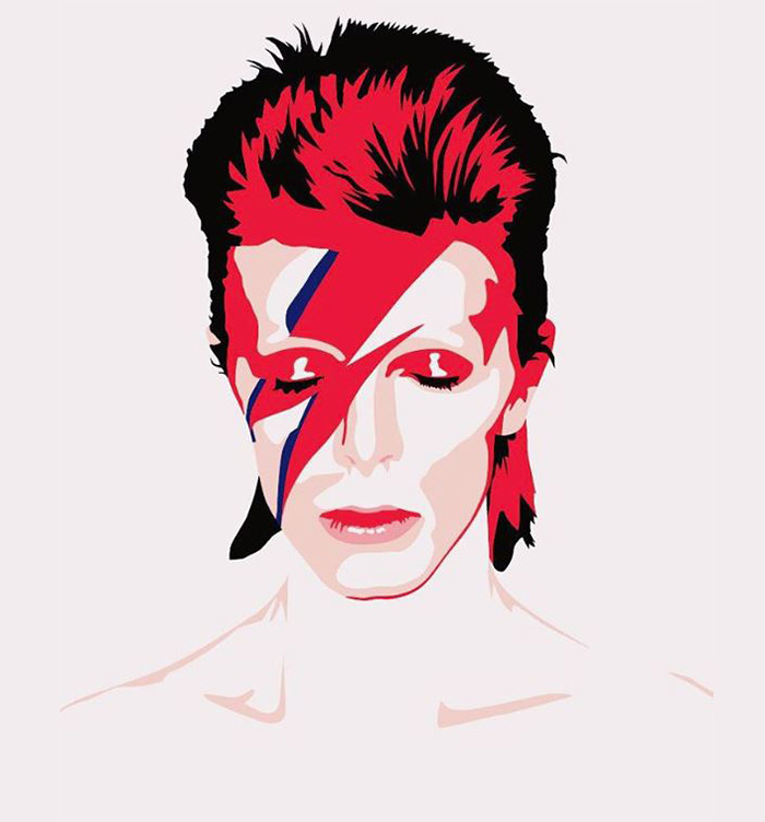 700x752 Artists Pay Tribute To Late David Bowie Pics) Bored Panda