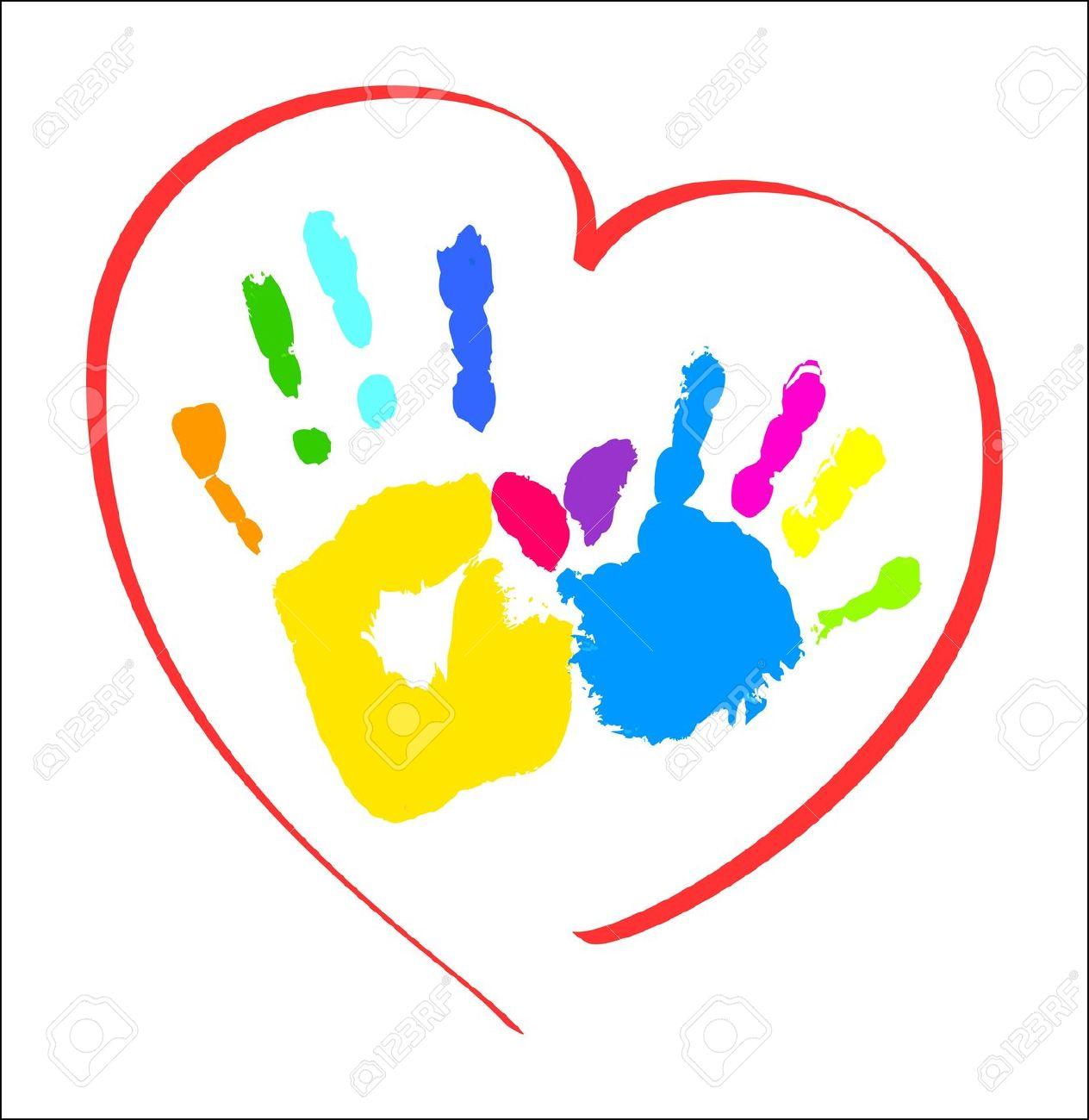 1264x1300 Handprint Clipart Childcare Cute Borders, Vectors, Animated, Black