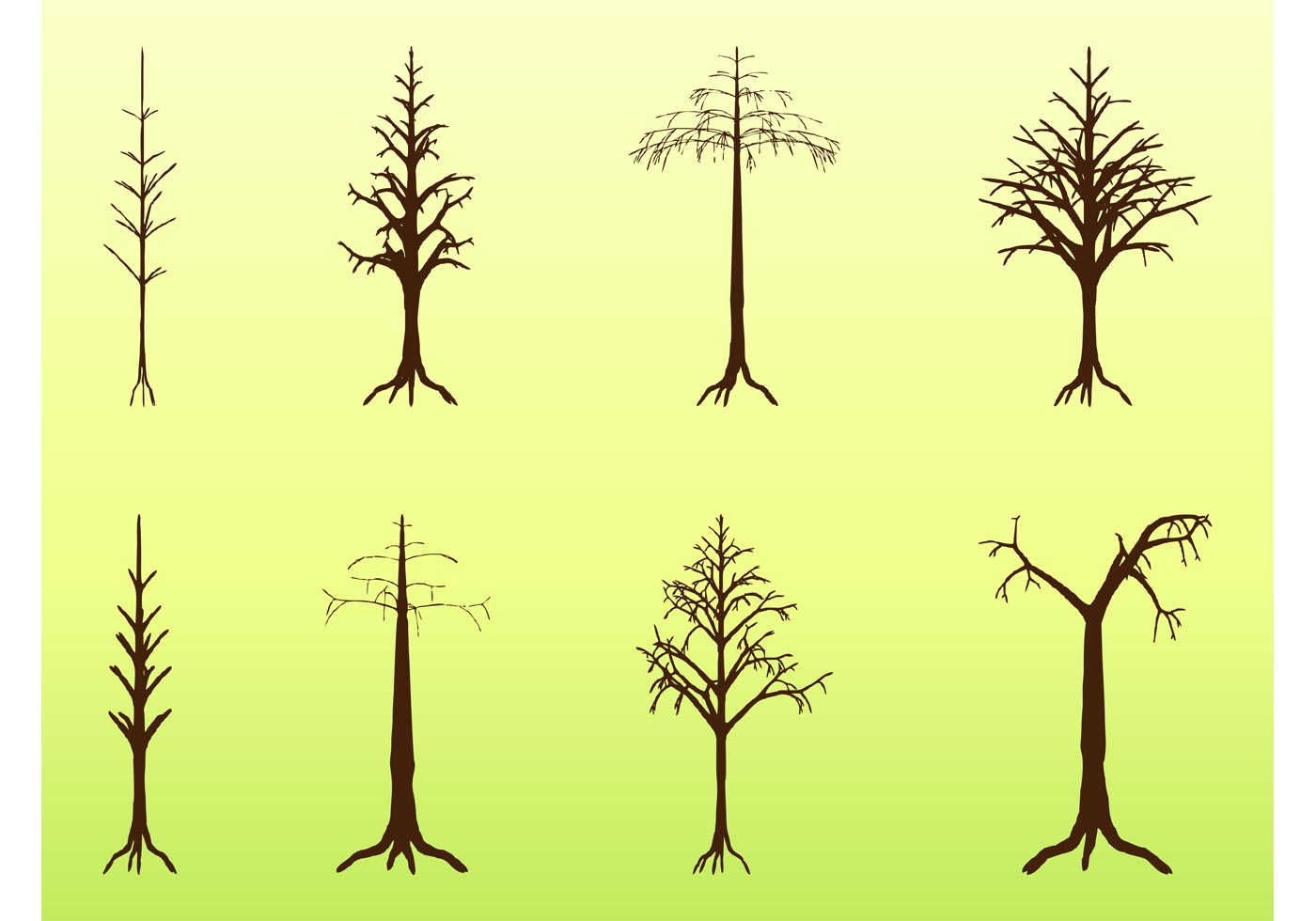 1400x980 Dead Trees Free Vector Art
