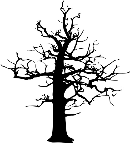 546x600 Halloween Large Dead Tree Free Vector In Open Office Drawing Svg