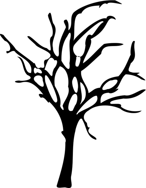 467x600 Halloween Small Dead Tree Free Vector In Open Office Drawing Svg