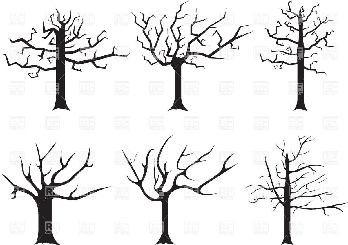 1200x844 Silhouettes Of Stylized Dead Trees