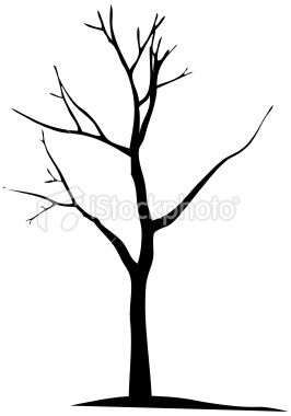266x380 Vector Dead Tree Silhouette Round Branches A Bit More Then Add