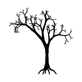 283x283 Collection Of Free Vector Tree Halloween. Download On Ubisafe