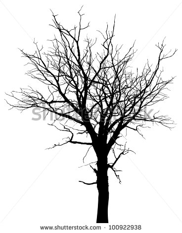 368x470 Dead Tree Silhouette Clipart