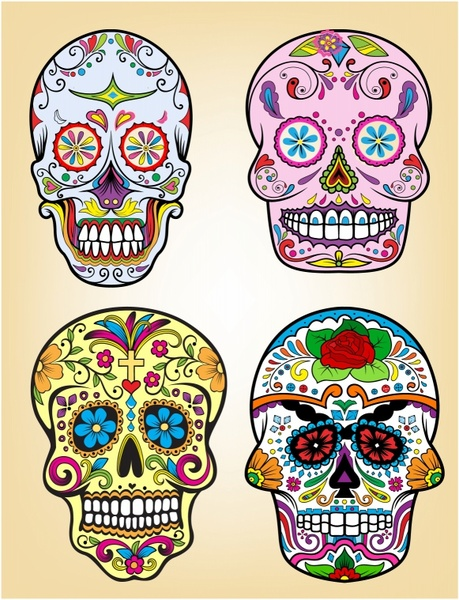 459x600 Day Of The Dead Vector Illustration Set Free Vector In Adobe