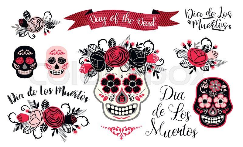 800x484 Dia De Los Muertos. Day Of The Dead. Vector Design Element For