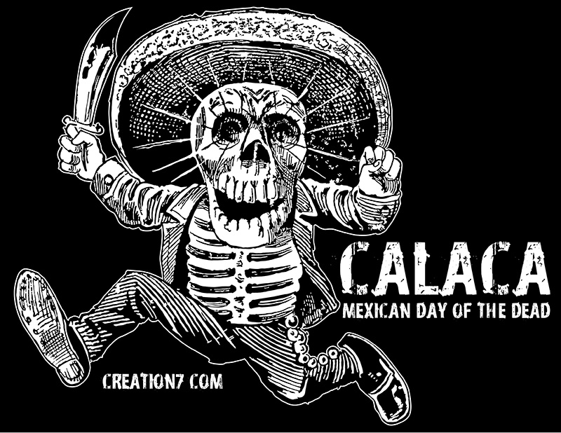 800x618 Calaca Mexican Day Of The Dead Vector Free Download!