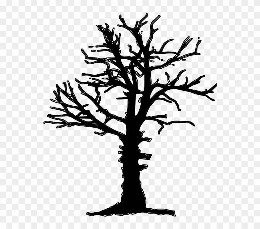 840x741 Clipart Of Dead Tree Silhouette Vector Image