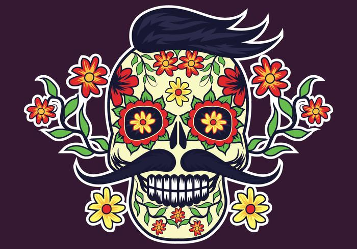 700x490 Day Of The Dead Vector Illustration