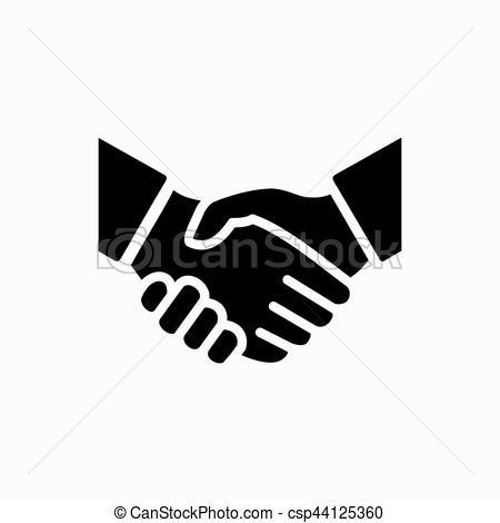 450x470 Handshake Icon Simple Vector Illustration. Deal Or Partner