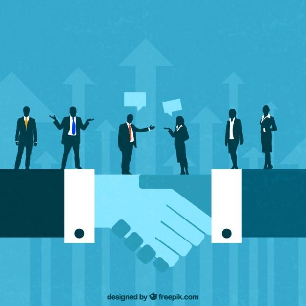 626x626 Business Deal Concept Vector Premium Download